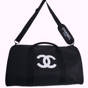 CHANEL VIP GIFT TRAVEL BAG GYM BAG CROSS BODY BAG